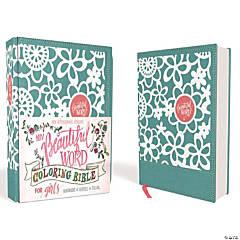 New International Version Beautiful Coloring Bible - Girls - Teal