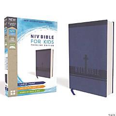 New International Version Bible For Kids/Large Print - Blue