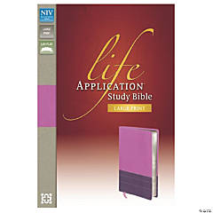 New International Version Life Application Bible - Large Print - Orchid