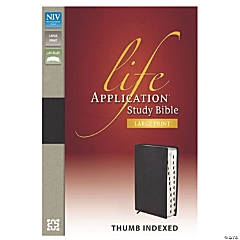 New International Version Life Application Bible/Large Print - Black Indexed