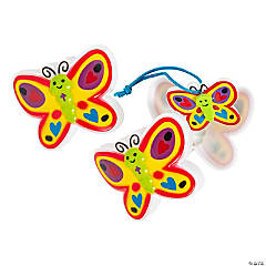 New Life in Jesus Craft Kit-Filled Butterfly-Shaped Plastic Easter Eggs - 12 Pc.