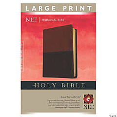New Living Translation 2 Personal Size Large Print Bible - Brown/Tan Tutone