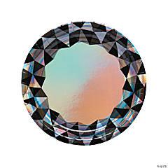 New Year's Eve Diamond Dinner Plates