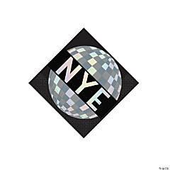 New Year's Eve Disco Ball Drop Beverage Napkins