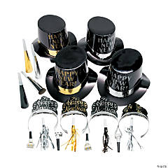 New Year's Eve Elegant Celebration Countdown Party Kit for 50