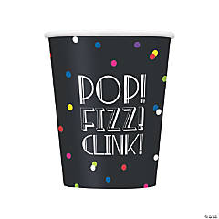 New Year's Eve Neon Dots Cups