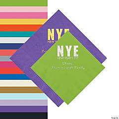New Year's Eve Personalized Beverage or Luncheon Napkins