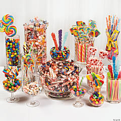 New Year's Eve Colorful Candy Buffet