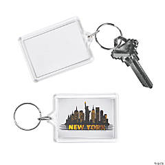 New York Theme Picture Frame Keychains
