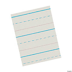 "Newsprint Handwriting Paper, Skip-A-Line, Grade 1, White, 1/2"" Ruled (Long Way), 11"" x 8-1/2"", 500 Sheets Per Pack, 5 Packs"