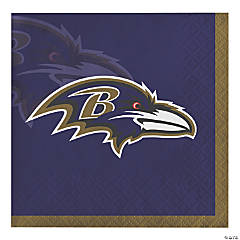 NFL Baltimore Ravens Beverage Napkins 48 Count