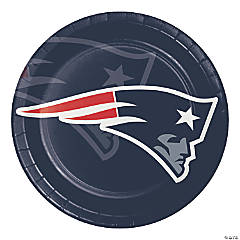 NFL New England Patriots Paper Plates 24 Count