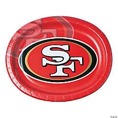 NFL® San Francisco 49ers ™ Oval Paper Dinner Plates