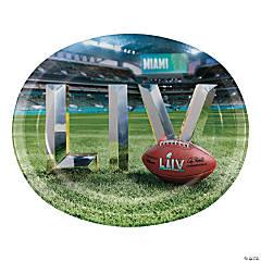 NFL® Super Bowl 2020 Oval Paper Dinner Plates