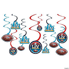 NFL® Super Bowl LV Hanging Swirl Decorations - 12 Pc.