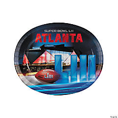 NFL<sup>®</sup> Super Bowl LIII Oval Paper Dinner Plates