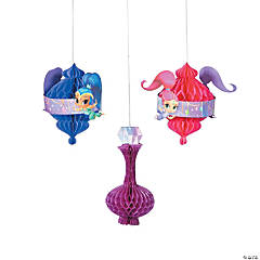 Nickelodeon™ Shimmer & Shine™ Hanging Honeycomb Decorations