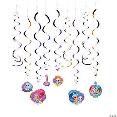 Nickelodeon™ Shimmer & Shine™ Hanging Swirl Decorations