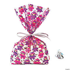 Ninja Girl Cellophane Bags