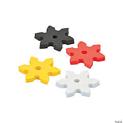 Ninja Star Erasers - 24 Pc.