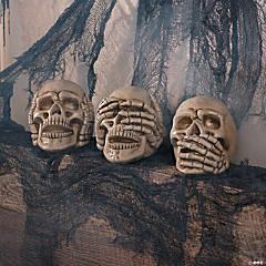 No Evil Skulls Halloween Decoration