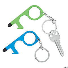 No-Touch Keychain Tools - Bright Colors