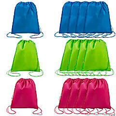 Nonwoven Polyester Bright Color Drawstring Bags