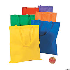 Nonwoven Polyester Extra Large Primary Color Tote Bags