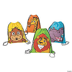 Nonwoven Polyester Zoo Adventure Drawstring Bags