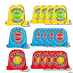 Nonwoven polypropylene Anti-Bullying Drawstring Bags