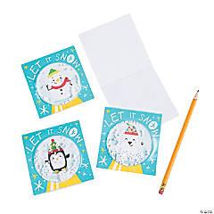 Nordic Noel Snow Globe Notepads