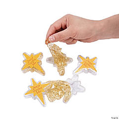 North Star Gold Glitter Slime Containers