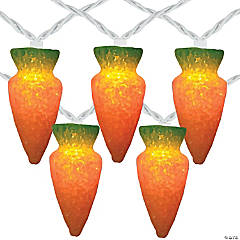 Northlight 10-Count Orange Carrot Easter String Light Set  7.25ft White Wire