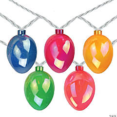 Northlight 10-Count Pearl Multi-Colored Easter Egg String Light Set  7.25ft White Wire