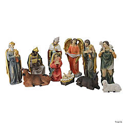 Northlight - 11-Piece Brightly Colored Christmas Nativity Set 8