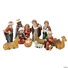 Northlight - 12-Piece Red and Beige Religious Children's First Christmas Nativity Set 8