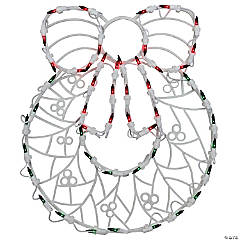 Northlight - 16 LED Lighted Wreath Christmas Window Silhouette Decoration (Pack of 4)