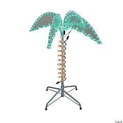 Northlight - 2.5' Green and Tan LED Palm Tree Rope Light Outdoor Decoration