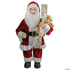Northlight - 2' Standing Santa Christmas Figure with a Naughty or Nice List