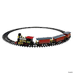 Northlight - 20-Piece Battery Operated Red and Orange Animated Classic Christmas Train Set with Sound