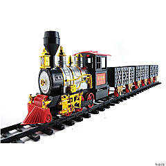Northlight - 20pc Black and Red Battery Operated Classic Train Set 12
