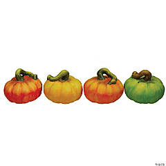 Northlight 4-Piece Fall Harvest Artificial Pumpkins Thanksgiving Decoration Set