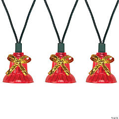 Northlight - 40-Count Musical Red Bells Christmas Light Set  13ft Green Wire
