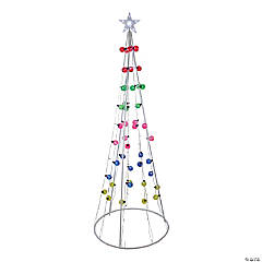 Northlight - 6' Multi-Colored Lighted Show Cone Christmas Tree Outdoor Decoration