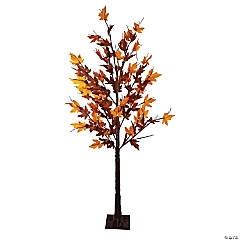 Northlight - 6' Pre-Lit LED Brown Maple Artificial Christmas Tree- Clear Lights
