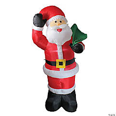 Northlight - 8' Red and White Animated Inflatable Standing Santa Claus Christmas Yard Decor