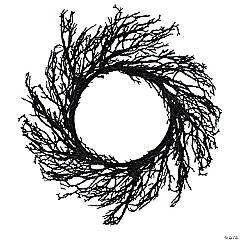 Northlight Black Twig Artificial Halloween Wreath - 24-Inch  Unlit