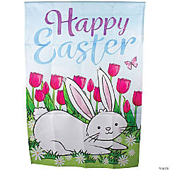 Northlight Happy Easter Bunny Outdoor House Flag 28
