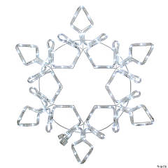 Northlight - LED Rope Light Snowflake Commercial Christmas Decoration 48 Inch