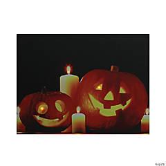 Northlight Orange and Black LED Lighted Halloween Jack-o'-Lanterns Wall Art 15.75